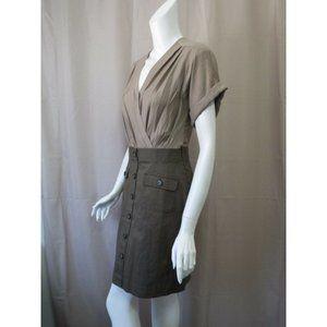 Ann Taylor LOFT Khaki top skirt short safari dress